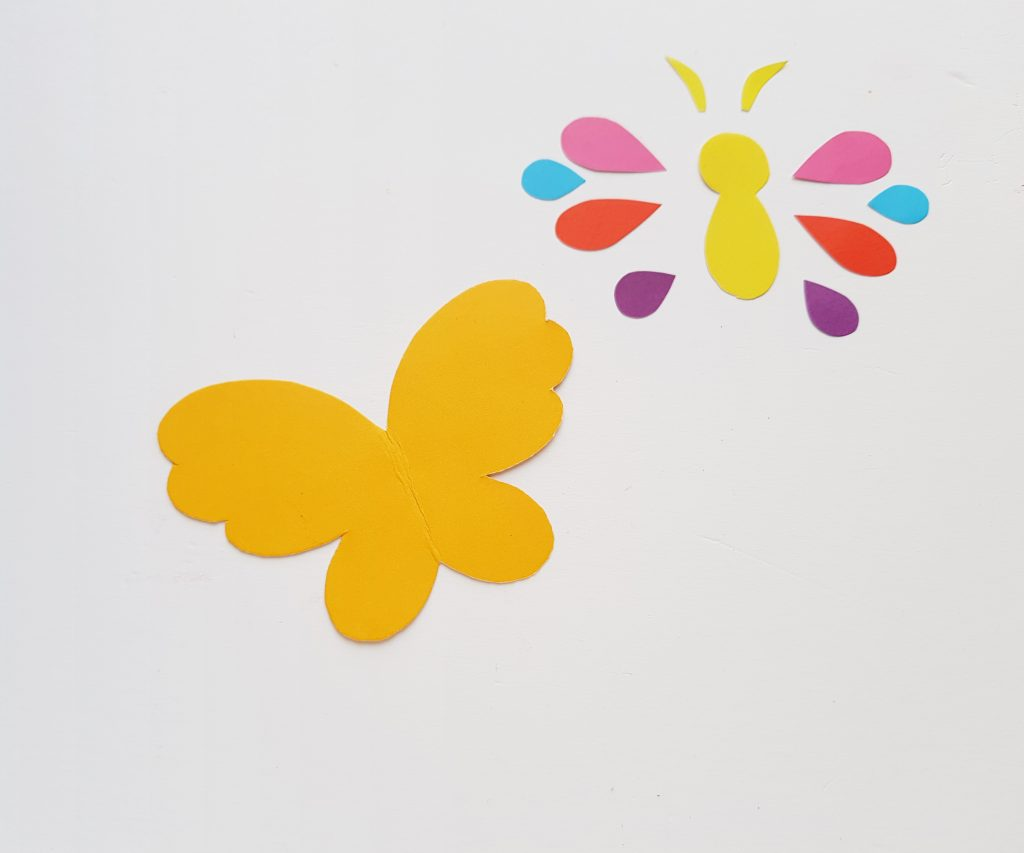 Template for the Butterfly Bookmark Corner
