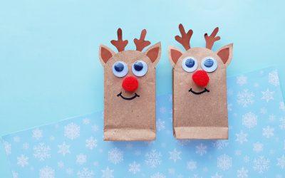 Christmas Craft! Make Reindeer Mini Gift Bags with Your Kids